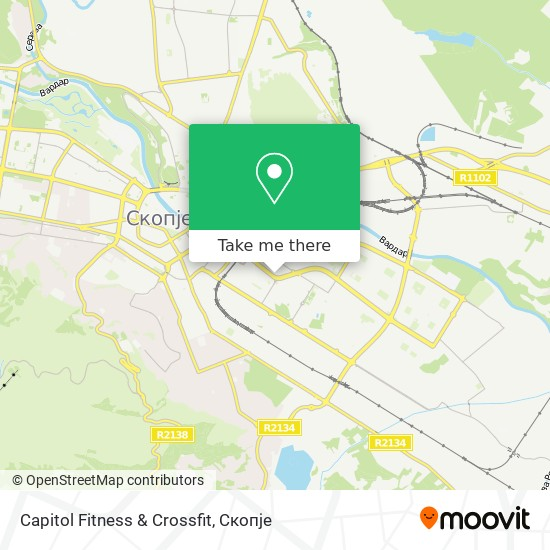 Capitol Fitness & Crossfit map