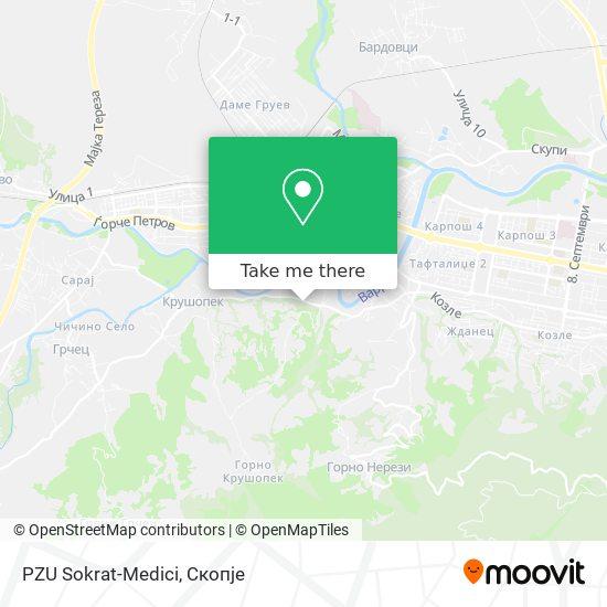 PZU Sokrat-Medici map
