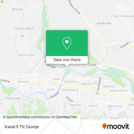 Kanal 5 TV map