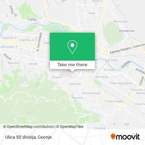 Ulica 50 divizija map