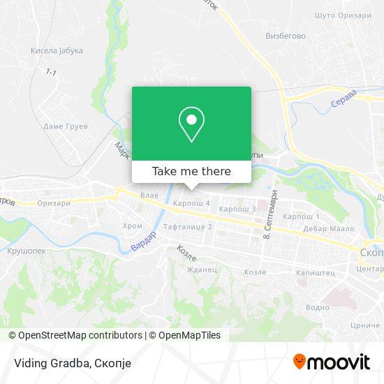 Viding Gradba map