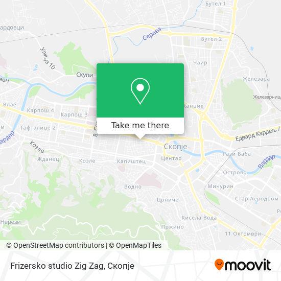 Frizersko studio Zig Zag map