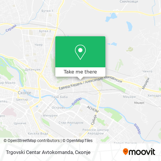 Trgovski Centar Avtokomanda map