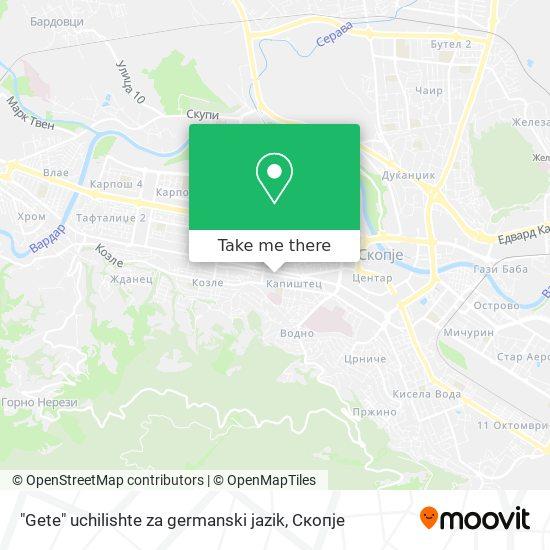 """""""Gete"""" uchilishte za germanski jazik map"""