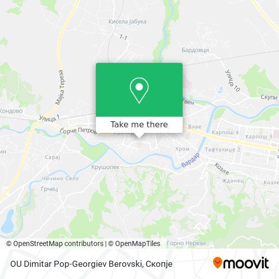 OU Dimitar Pop-Georgiev Berovski map