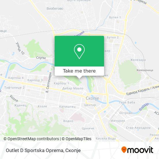 Outlet D Sportska  Oprema map