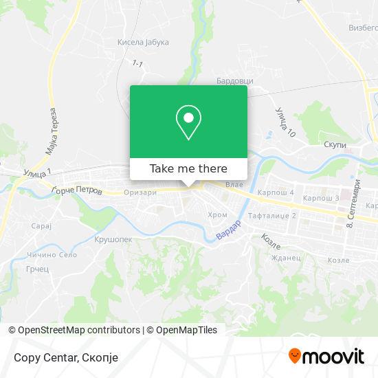 Copy Centar map