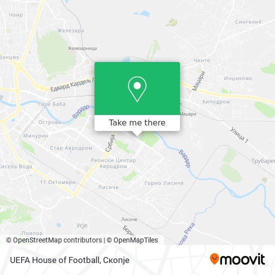 UEFA House of Football map