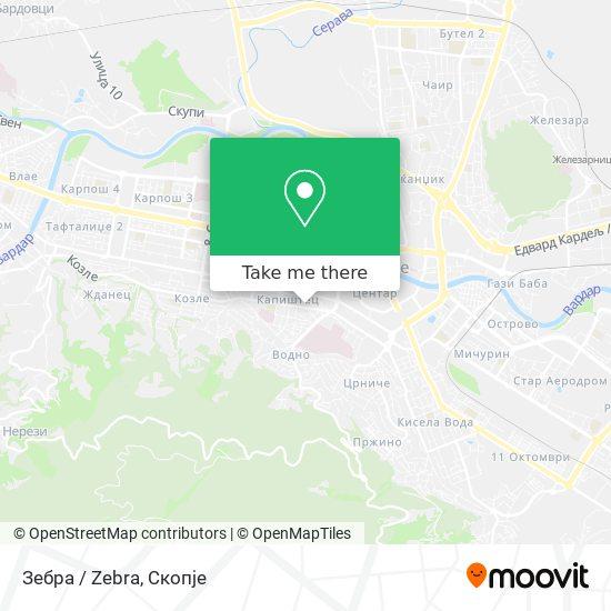 Зебра / Zebra map
