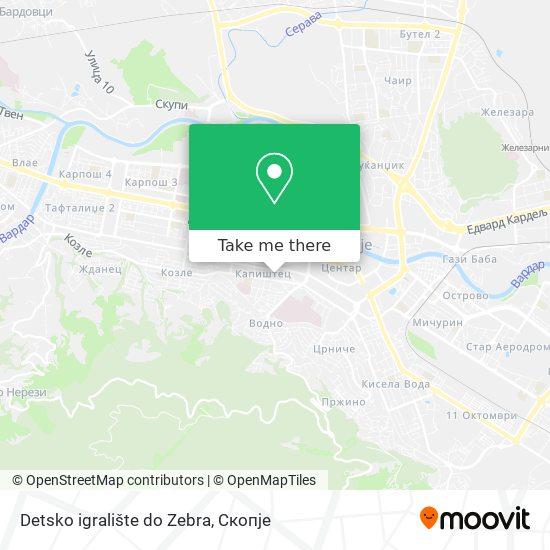 Detsko igralište do Zebra map