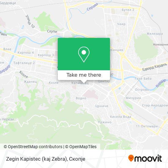 Zegin Kapistec (kaj Zebra) map