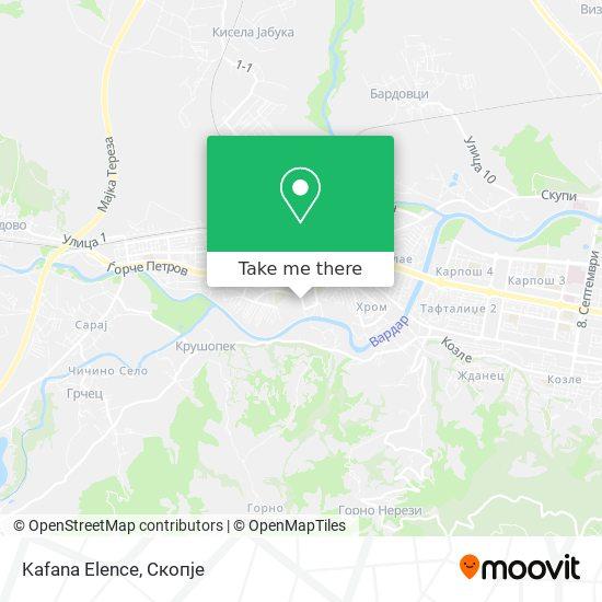 Kafana Elence map