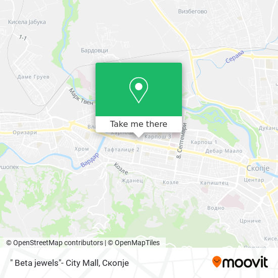 """ Beta jewels""- City Mall map"