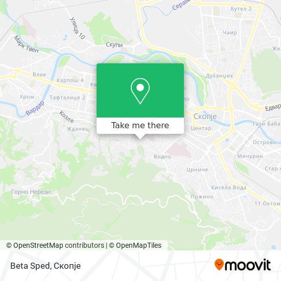 Beta Sped map
