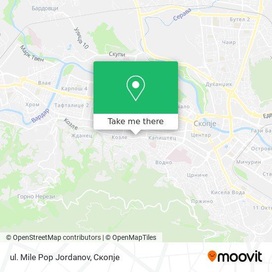 ul. Mile Pop Jordanov map