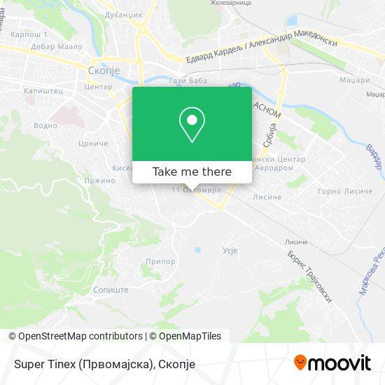 Super Tinex (Првомајска) map