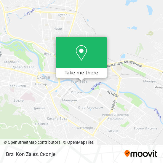 Brzi Kon Zalez map