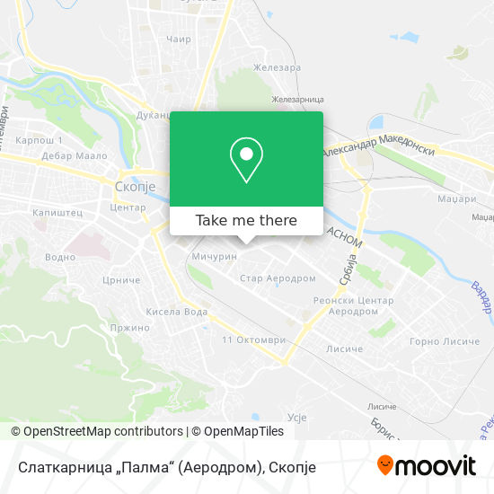 """Слаткарница """"Палма"""" (Аеродром) map"""