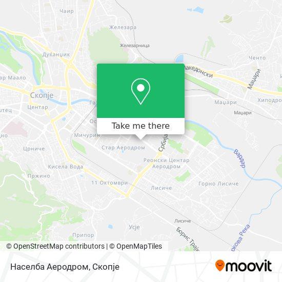 Населба Аеродром map