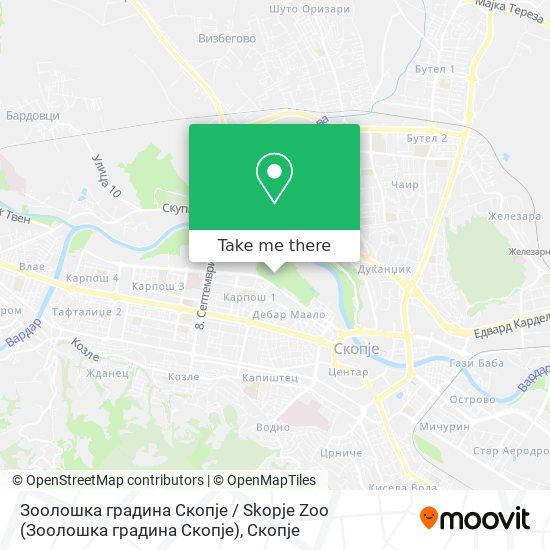 Зоолошка градина Скопје / Skopje Zoo map