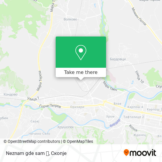 Neznam gde sam 🐛 map