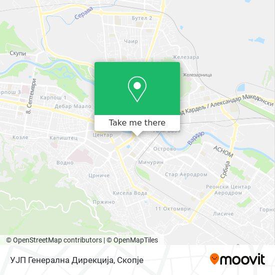 УЈП Генерална Дирекција map
