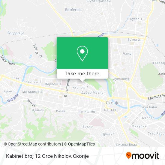 Kabinet broj 12 Orce Nikolov map