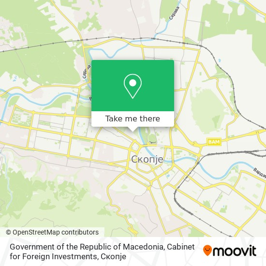 Government of the Republic of Macedonia, Cabinet for Foreign Investments map