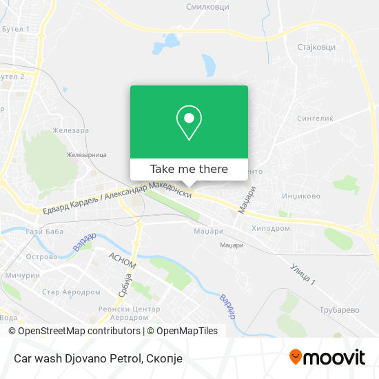 Car wash Djovano Petrol map