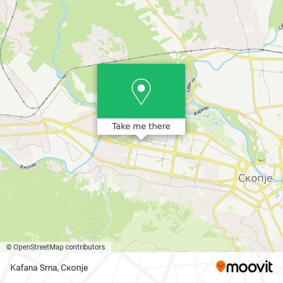 Kafana Srna map