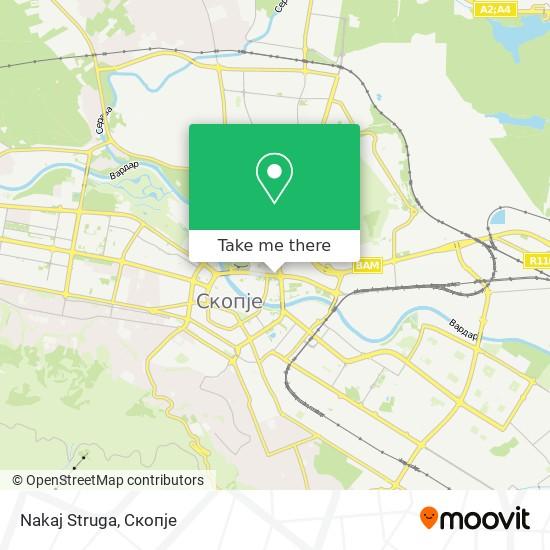 Nakaj Struga map