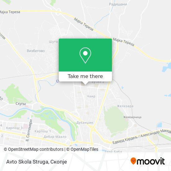 Avto Skola Struga map