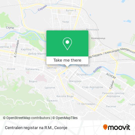 Centralen registar na R.M. map
