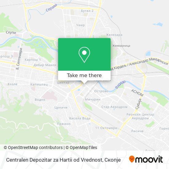 Centralen Depozitar za Hartii od Vrednost map