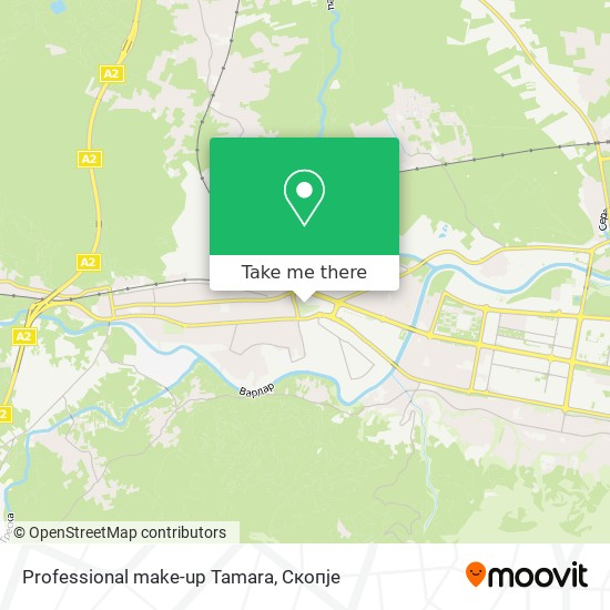 Professional make-up Tamara map