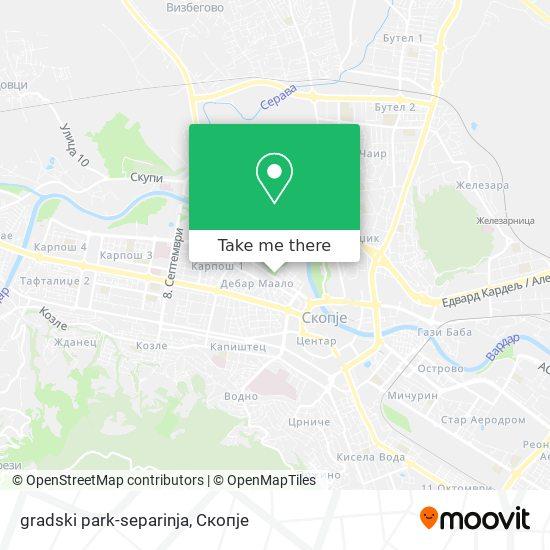 gradski park-separinja map
