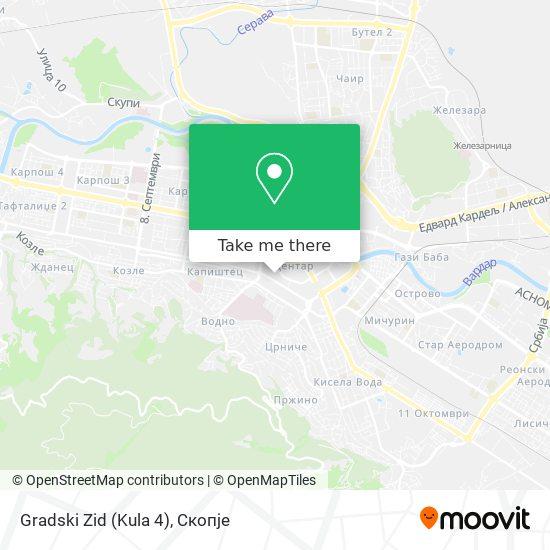 Gradski Zid (Kula 4) map