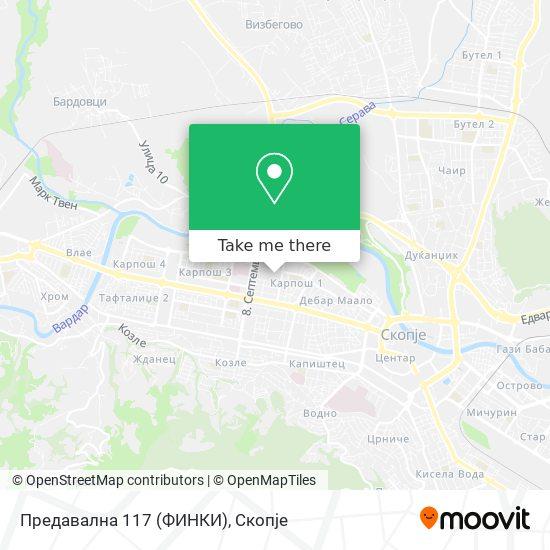 Предавална 117 (ФИНКИ) map
