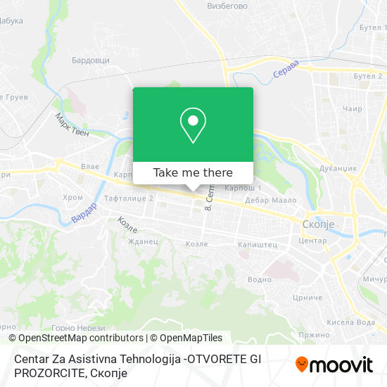 Centar Za Asistivna Tehnologija -OTVORETE GI PROZORCITE map