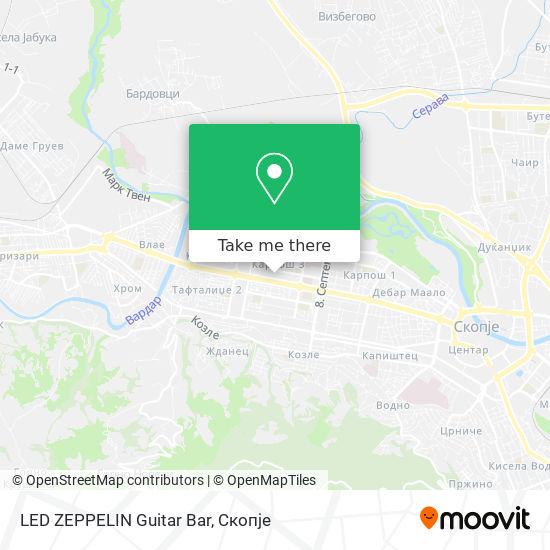 LED ZEPPELIN Guitar Bar map