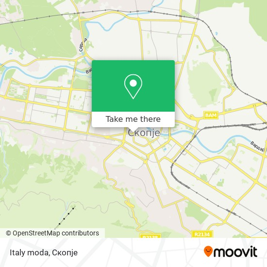Italy moda map