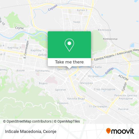 InScale Macedonia map