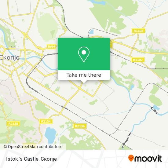 Istok 's Castle map