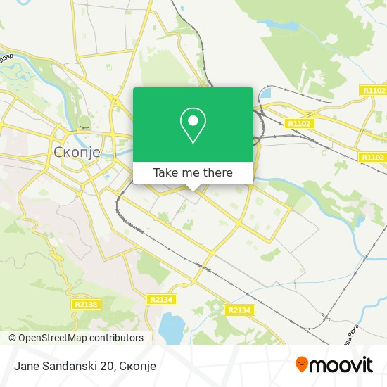 Jane Sandanski 20 map