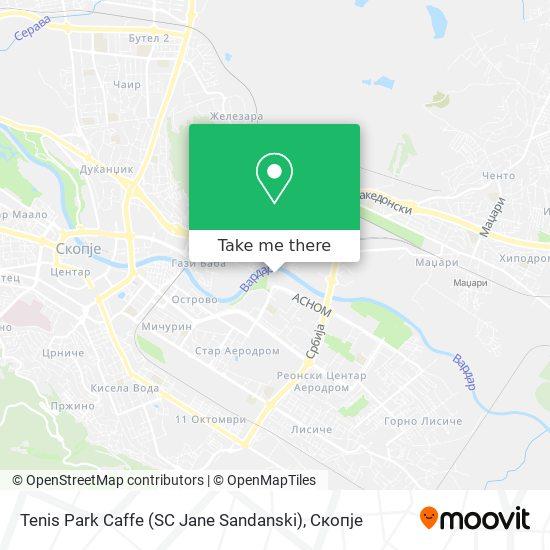 Tenis Park Caffe (SC Jane Sandanski) map