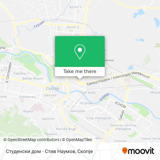 Студенски дом - Стив Наумов map