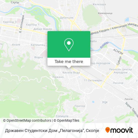 """Државен Студентски Дом """"Пелагонија"""" map"""