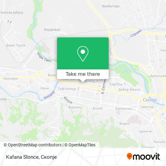 Kafana Slonce map