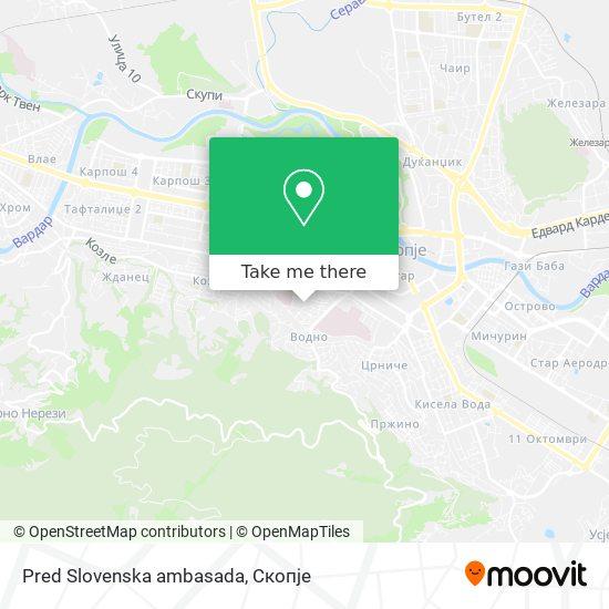Pred Slovenska ambasada map