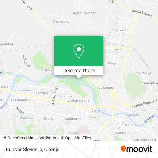 Bulevar Slovenija map